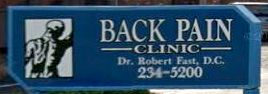 Back Pain Clinic Sign